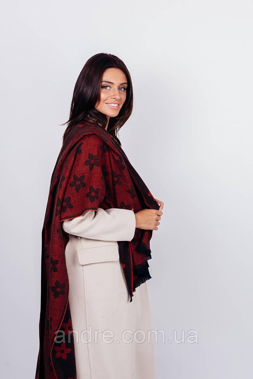 Тёплые шарфы клевер, коричневый