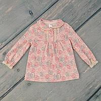 Туника блуза для девочки на годик (трикотаж), р. 80
