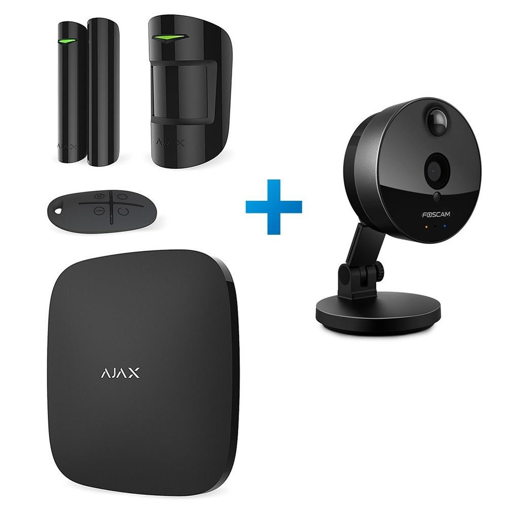 Комплект сигнализации Ajax StarterKit черный + IP-видеокамера Foscam C1