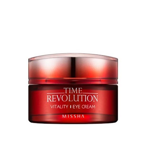 Антивозрастной крем для век с растительными экстрактами Missha Time Revolution Vitality Eye cream
