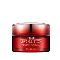 Антивозрастной крем для век с растительными экстрактами Missha Time Revolution Vitality Eye cream, фото 1