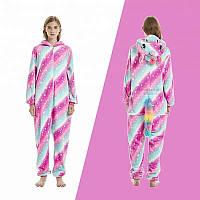 Пижама кигуруми комбинезон теплая качетственная звездный Единорог