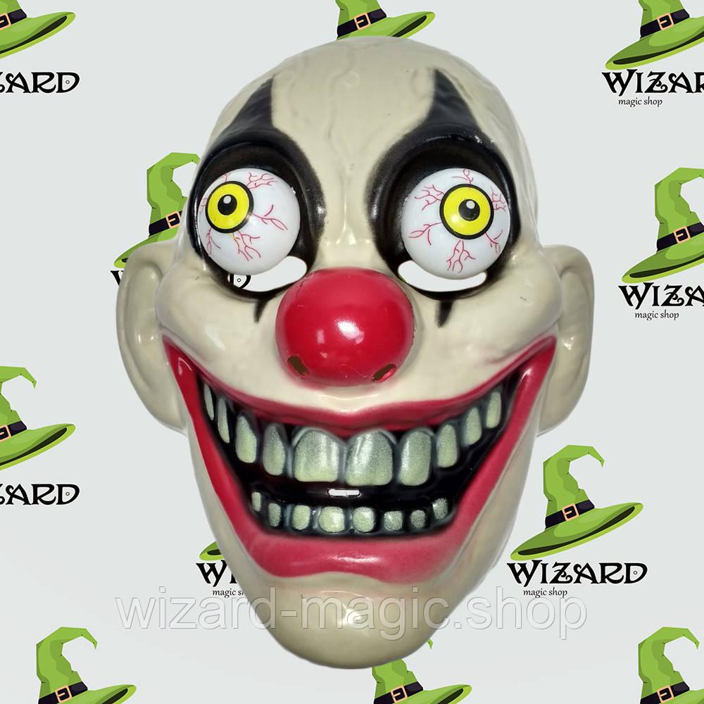 Маска пластик Безумный Клоун