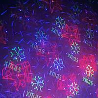 Уличный лазерный новогодний проектор (синий - зеленый - красный) с пультом ( Видео), фото 1