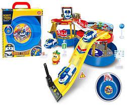 Гараж-чемоданчик  828-13,паркинг Робот Трейн с двумя машинками