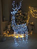 Светящейся фигура новогодний олень led 70см Дом / Улица ip44 Белый