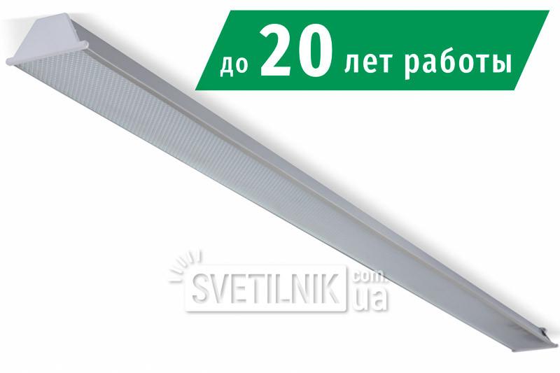 Линейный LED светильник 1560x100 / 18W / 4200K / Микропризма (S-1518-m)