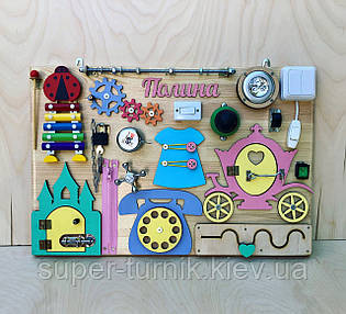 Развивающая игрушка, пазл, БИЗИБОРД 60Х40