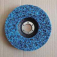 Круг зачистной нетканый синий(средний) с основой d125mm