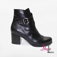 Чорні стильні черевики жіночі, фото 1