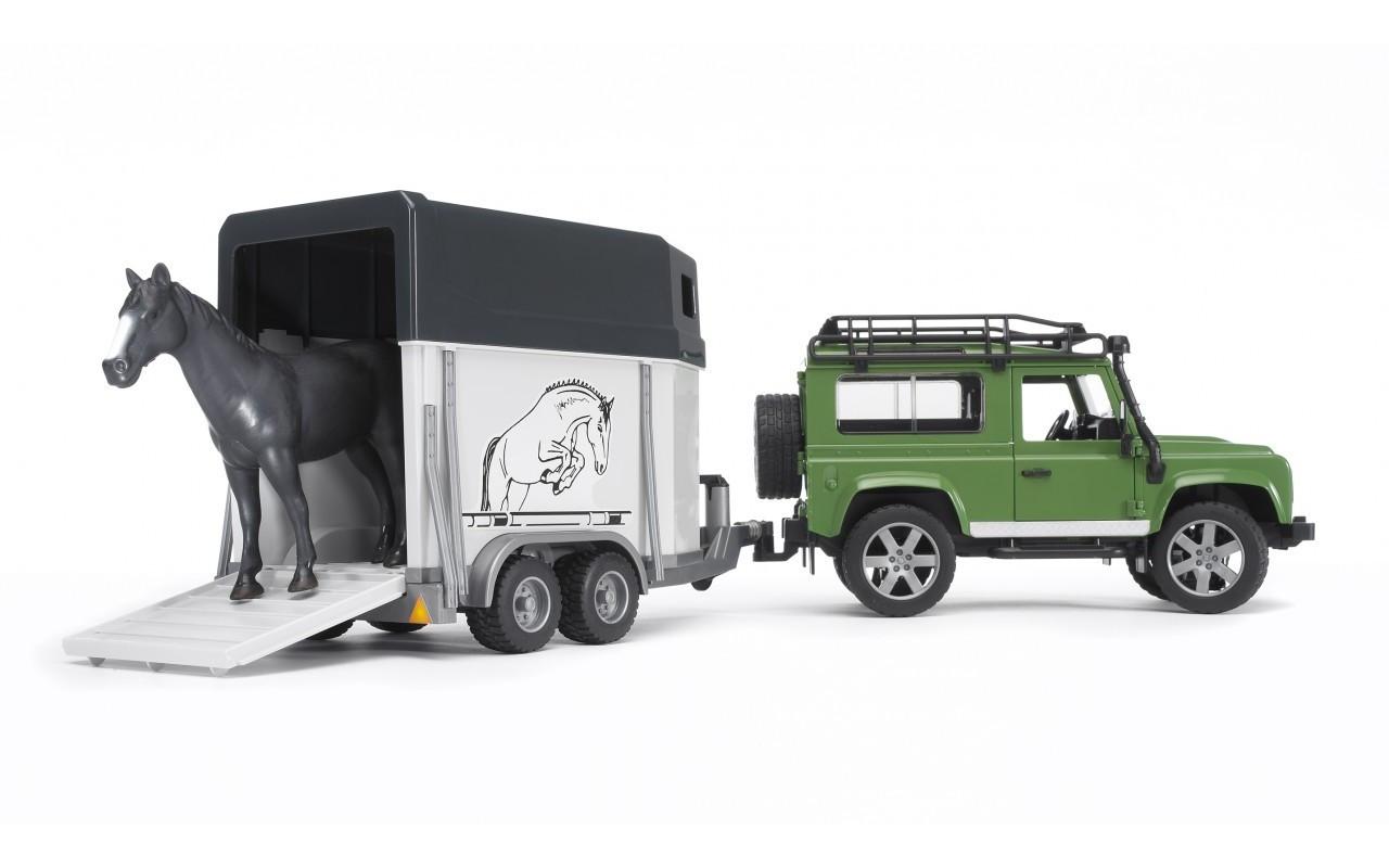 Внедорожник Land Rover Defender с прицепом Bruder 02592