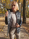 Жіноча шкіряна куртка утеплена, фото 3