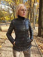Женская утепленная кожаная куртка, фото 1