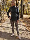 Женская утепленная кожаная куртка, фото 2