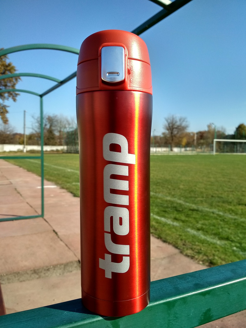 Термокружка Tramp 0,45 л TRC-107- red червоний металік. Кружка термос 450 мл.