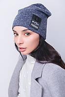 Женский комплект шапка и хомут на подростка