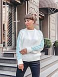 Женский мягкий теплый шерстяной свитер с узором косы на рукавах (в расцветках), фото 4