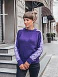 Женский мягкий теплый шерстяной свитер с узором косы на рукавах (в расцветках), фото 5