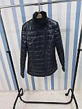 Жіноча шкіряна куртка утеплена, фото 5