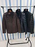 Жіноча шкіряна куртка утеплена, фото 7