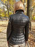 Жіноча шкіряна куртка утеплена, фото 4