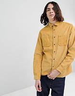 Мужская рубашка из вельвета со стойкой и отложным воротом , стандартный и большой размер есть. Цвет на выбор, фото 1