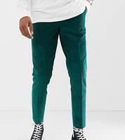 Зеленые брюки, джинсы  вельветовые для высоких мужчин ХС-12ХХЛ,большие размеры и стандарт