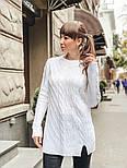 Женский теплый шерстяной свитер-туника (в расцветках), фото 4