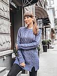Женский теплый шерстяной свитер-туника (в расцветках), фото 3