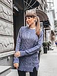 Женский теплый шерстяной свитер-туника (в расцветках), фото 5