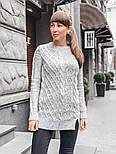 Женский теплый шерстяной свитер-туника (в расцветках), фото 6
