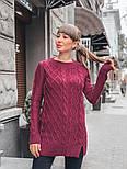 Женский теплый шерстяной свитер-туника (в расцветках), фото 8