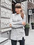 Женский теплый шерстяной свитер-туника (в расцветках), фото 7