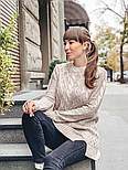 Женский теплый шерстяной свитер-туника (в расцветках), фото 9