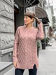 Женский теплый шерстяной свитер-туника (в расцветках), фото 10