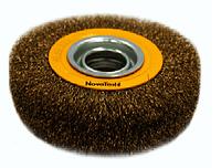 Щітка кільцева NovoTools, гофр. латунь, 200х22.2мм