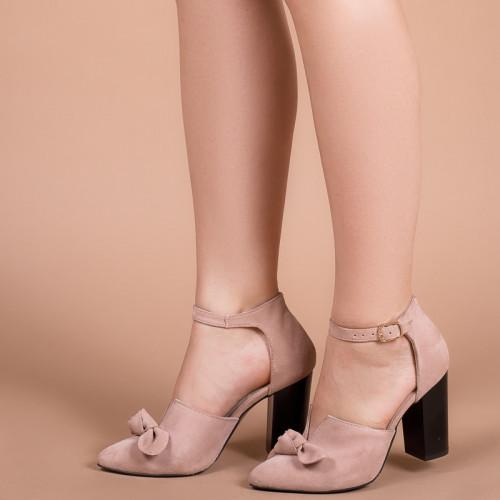 Туфли женские Светлый беж натуральная замш Размеры 36-41