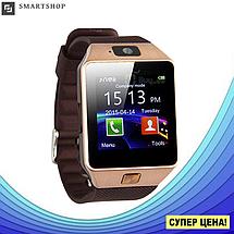 Умные часы Smart Watch DZ-09 Gold - смарт часы под SIM-карту и SD карту (Золотые), фото 3