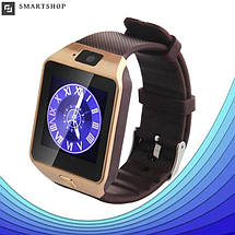 Умные часы Smart Watch DZ-09 Gold - смарт часы под SIM-карту и SD карту (Золотые), фото 2