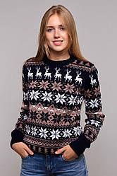 Зимний вязаный женский свитер универсального размера