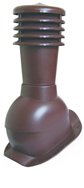 Вентиляционный выход Kronoplast KBF для металлочерепицы низкий профиль волна до 20 мм с колпаком