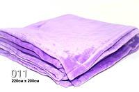 Плед  махровый(под велюр),лавандового цвета 220см × 200 см
