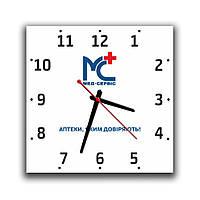 """Часы с логотипом """"Вашей Компании"""""""