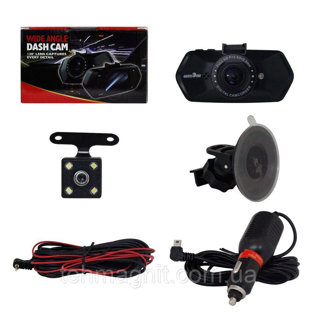 Автомобільний відеореєстратор JS-322 камера-реєстратор з мікрофоном HD 1080P (2 камери)