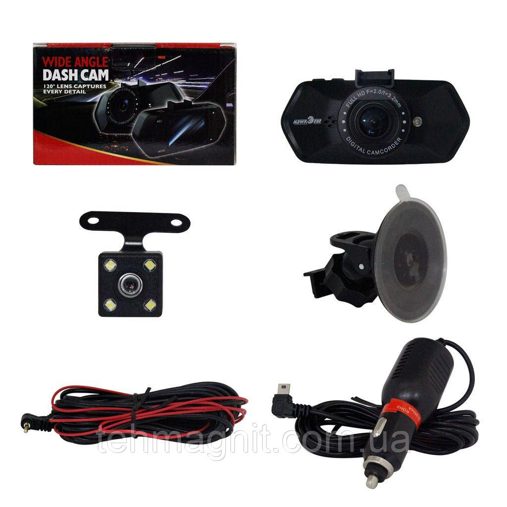 Автомобильный видеорегистратор  JS-322 камера-регистратор с микрофоном HD 1080P (2 камеры)