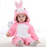 """Детская пижама кигуруми для девочки """"Розовый кролик"""""""