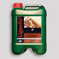 Антисептик-концентрат Lignofix-P 5л. пропитка для дерева кровельная. Коричневый