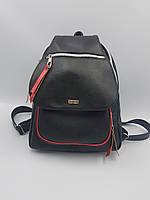 Рюкзак женский, молодежный Pear Forsa черно красный Р1812Ч