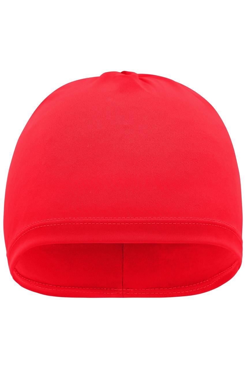 Спортивная шапка для бега красная 7125-40