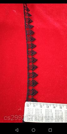 Кружево зубчиками 9 метров.Кружево для пошива и декора. Цвет чёрный, фото 2